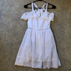 Reformation White Lace Cotton Mini Sun Dress XS
